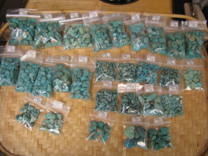 Real turquoise nuggets & chips for jewelry or hobby