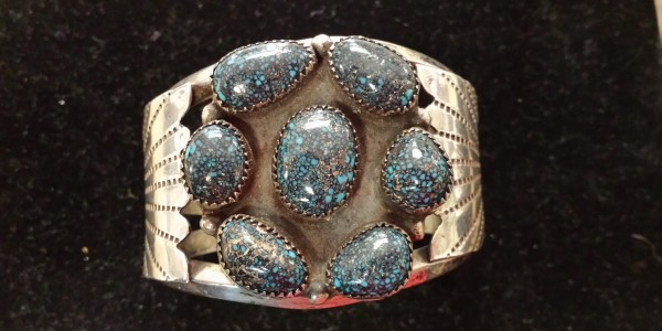 Bracelet with Lander Blue Turquoise ... the most valuable turquoise in the world