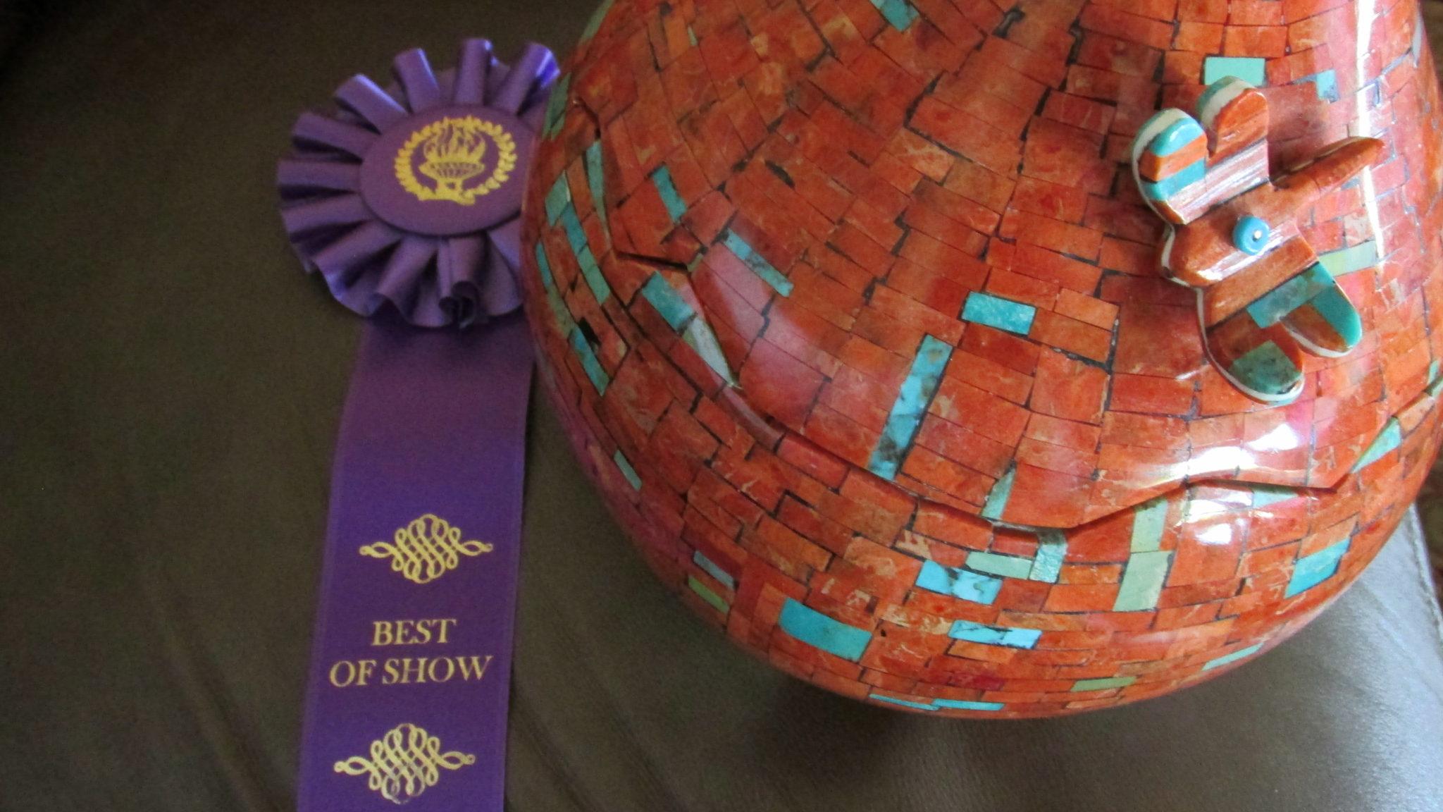Jolene Bird's award winning gourd