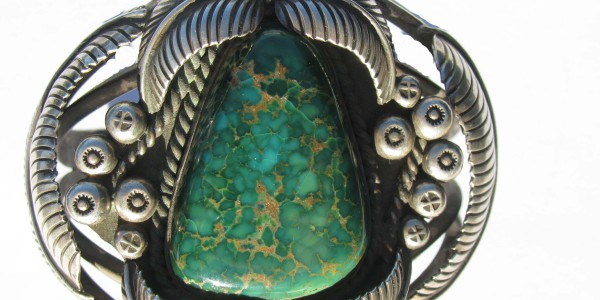 Bracelet with Carico Lake Turquoise.