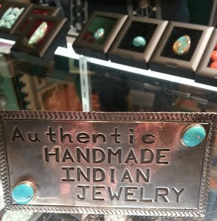 Silver and turquoise plaque