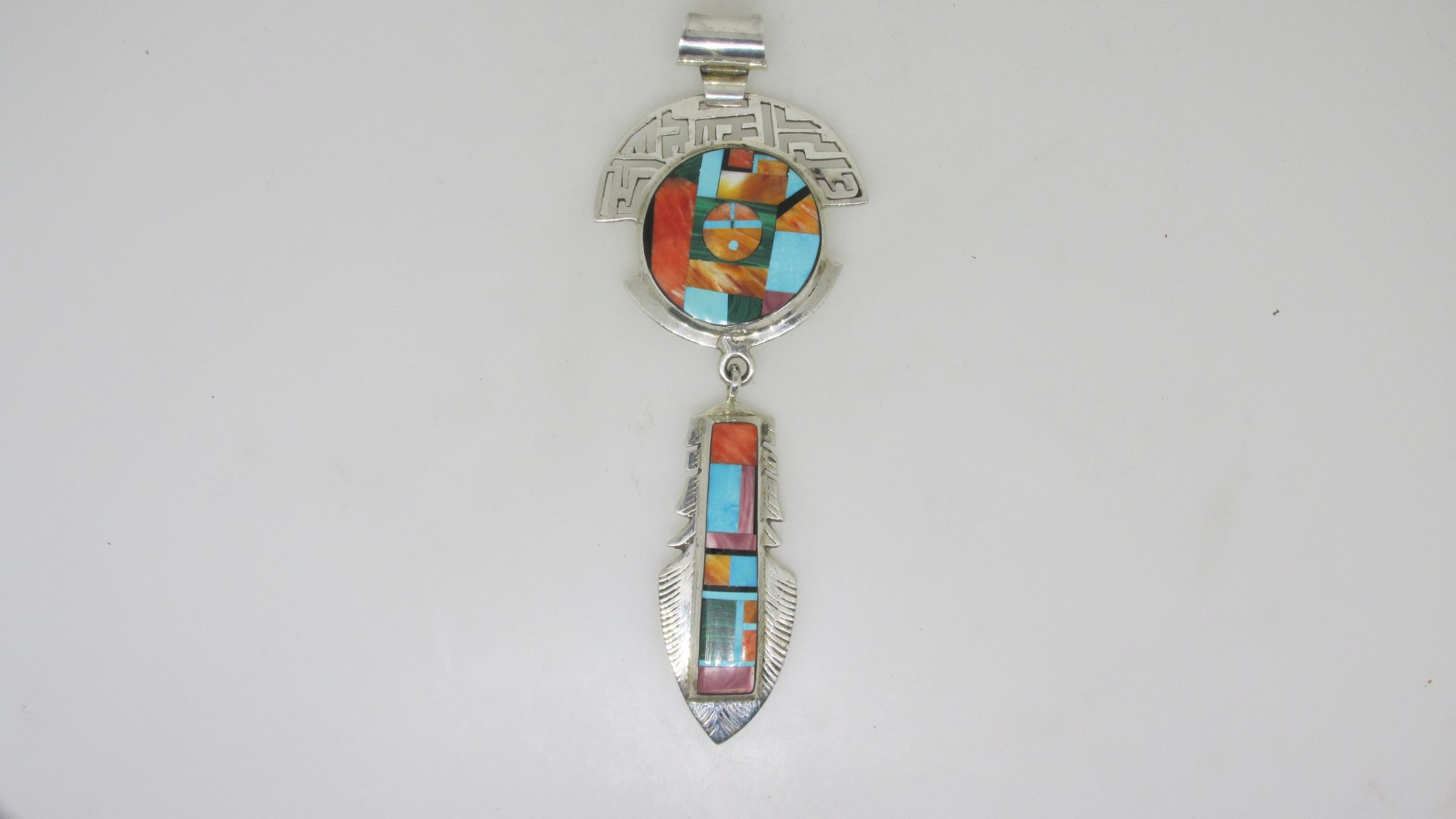 Sold Frank Yellowhorse Navajo Multi Stone Inlay Sterling