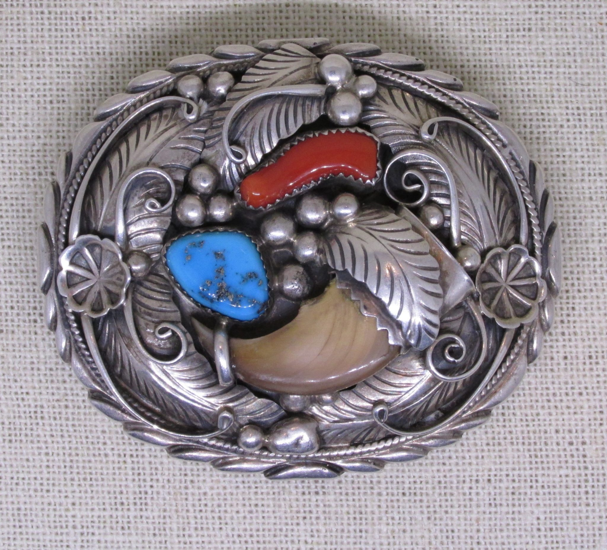 Sold Sarah Chee Navajo Dine Turquoise Coral And