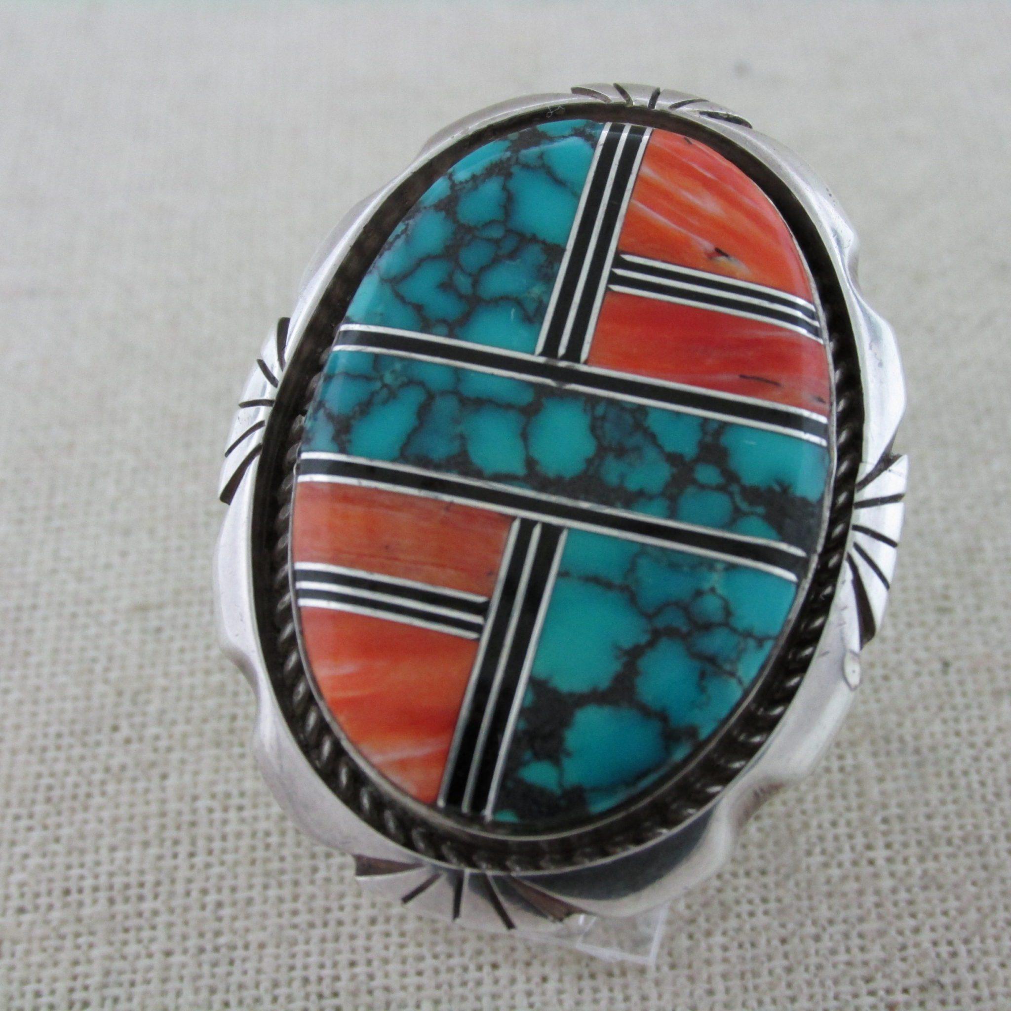 STERLING SPIDER Ring Size 9-14 to 9-12 Vintage 925 Silver-Navajo Indian Cortez H Hallmark-Arachnid Tarantula Widow Good Luck Lucky Amulet